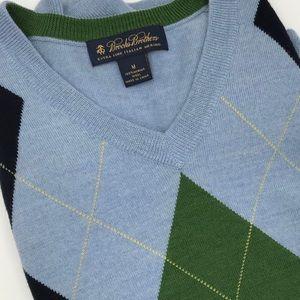 Brooks Brothers Fine Italian Argyle Sweater M